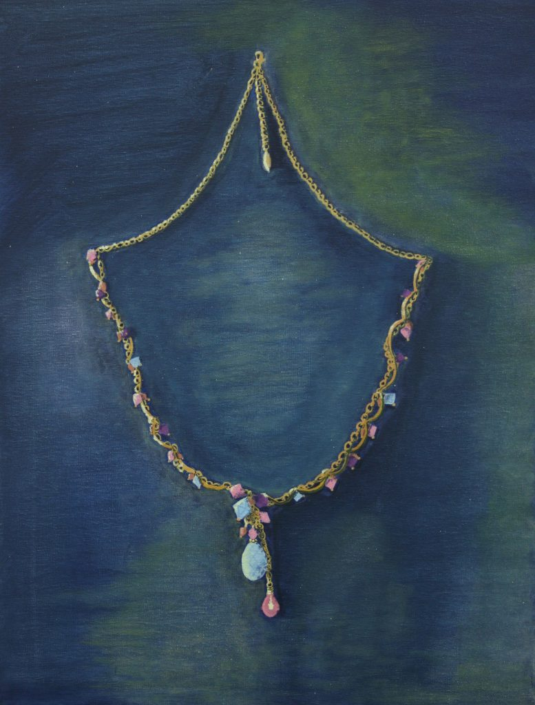 "Still life (necklace) <br>2012 <br>acrylic <br>23.5"" x 18"""