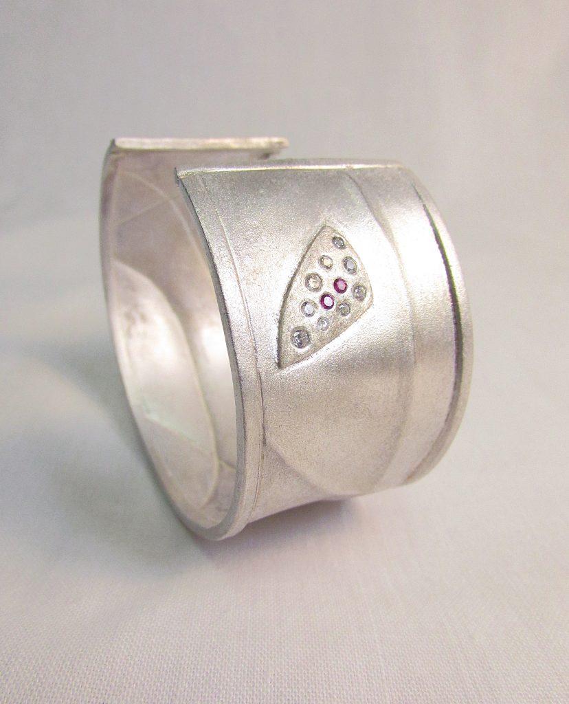 Bracelet  <br>2016 <br>sterling silver, CZ