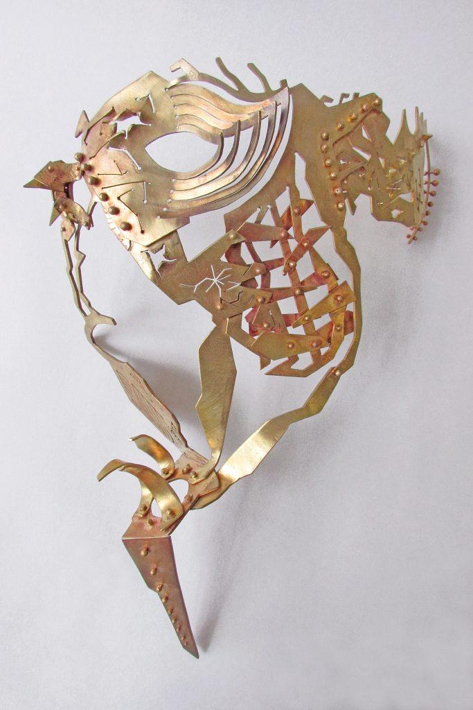 Lightning Series II: mask <br>2015 <br>brass